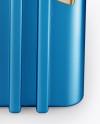 Metallic Hard Case Mockup - Front View (High-Angle Shot)
