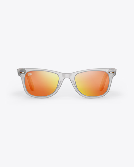 Transparent Sunglasses Mockup - Front View