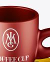 Matte Metallic Cup and Saucer Mockup (High-Angle Shot)