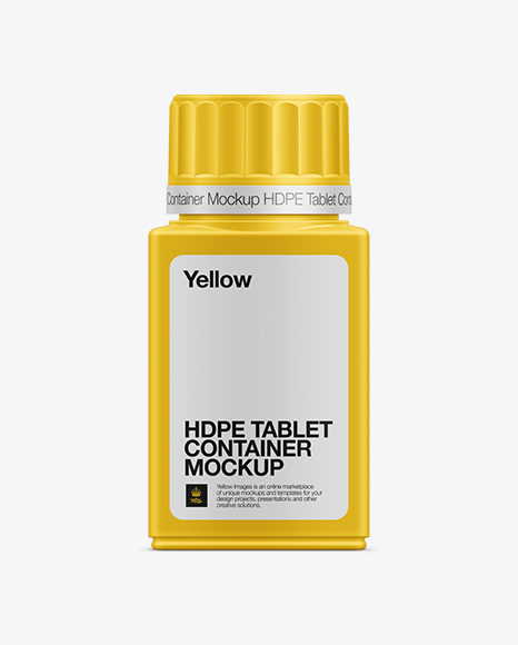 100ml Tablet Container Mockup