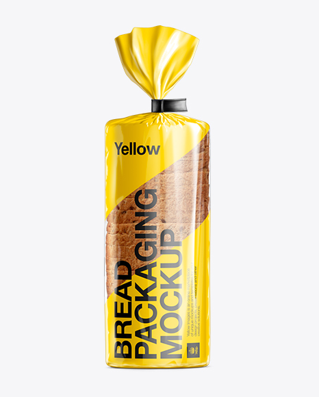 Bread Packaging Mockup - Standing Position