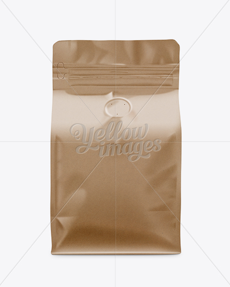 Download Coffee Bag Mockup Front View In Bag Sack Mockups On Yellow Images Object Mockups PSD Mockup Templates