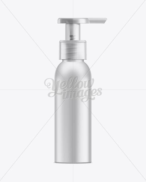 Cosmetic Bottle w/ Lotion Pump Mockup