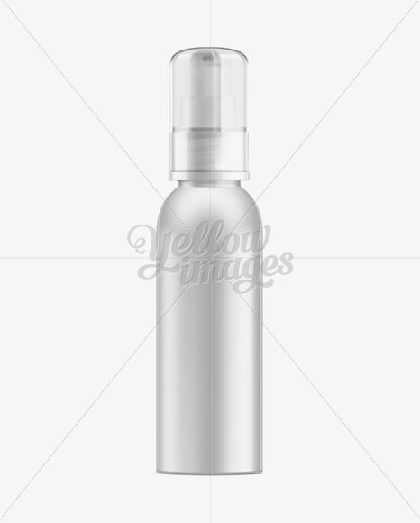 Cosmetic Bottle w/ Treatment Pump and Matte Smooth Cap Mockup