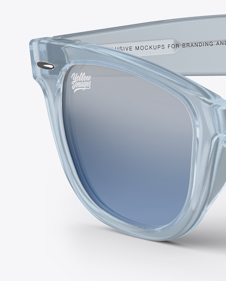 Transparent Sunglasses Mockup - Half Side View