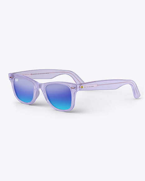 Transparent Sunglasses Mockup - Half Side View