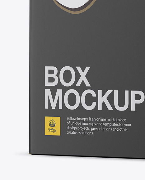 Matte Paper Box Mockup - Half Side View