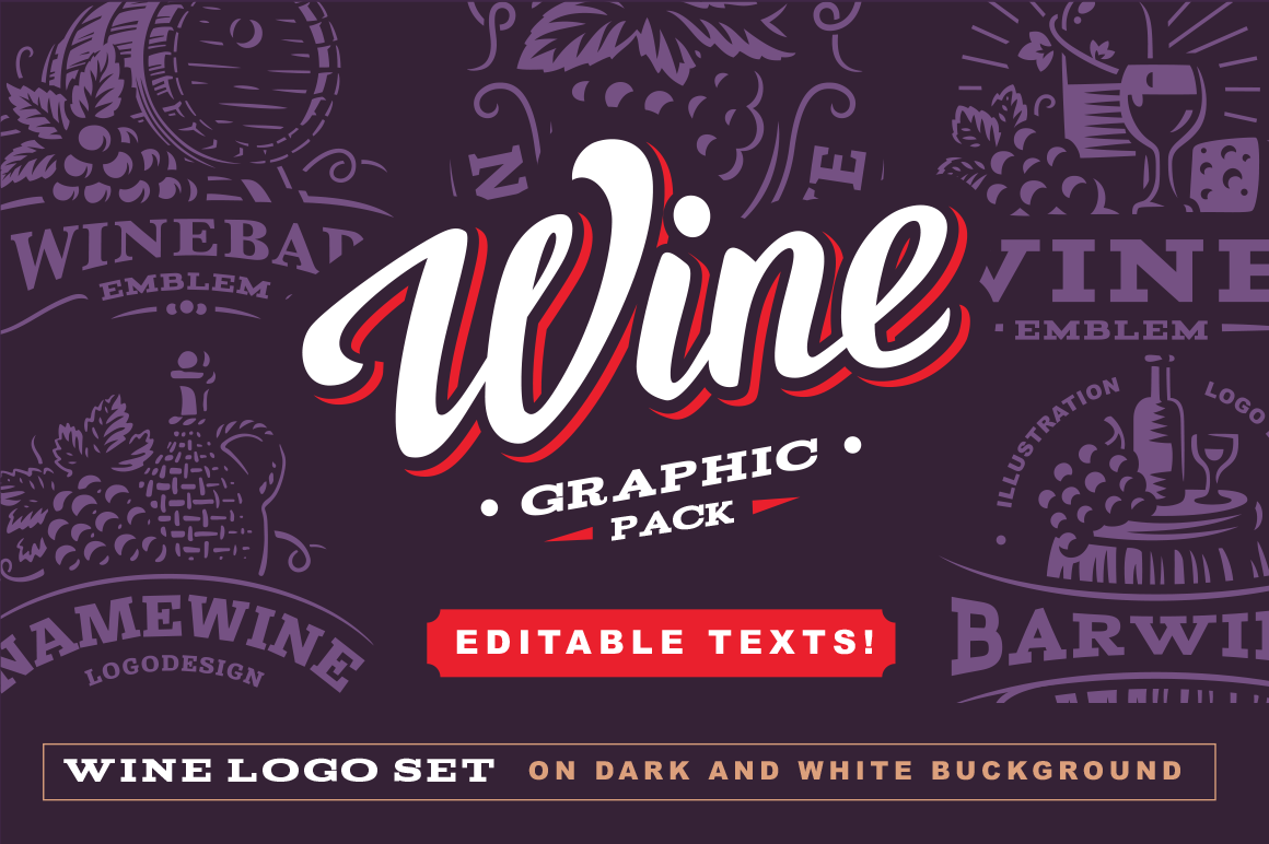 Wine graphic pack