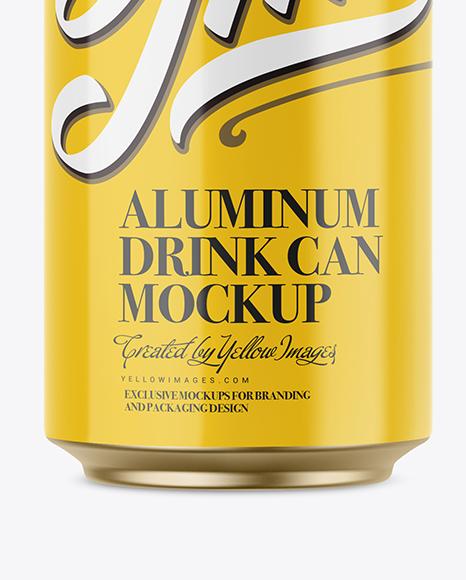 330ml Glossy Aluminium Can Mockup