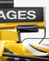 2017 Formula 1 Car Front view Mockup