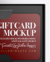 Gift Card in a Box Mockup - Top View