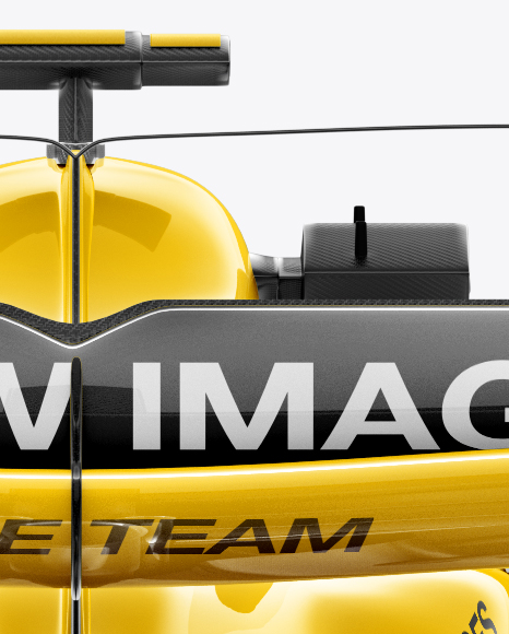 2017 Formula 1 Car Mockup Back view