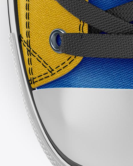 High-Top Canvas Sneaker Mockup - Top & Bottom Views