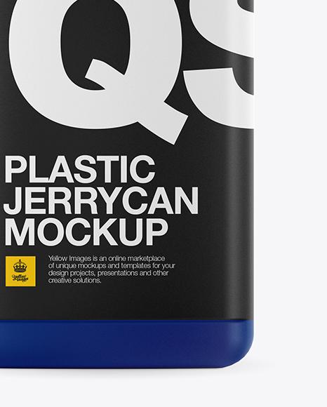 Matte Plastic Jerrycan Mockup