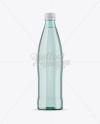 Green Glass Water Bottle Mockup