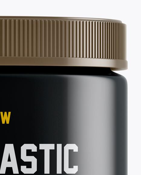 Glossy Plastic Protein Jar Mockup