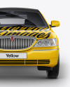 Lincoln Town Car Limousine Mockup - Front View