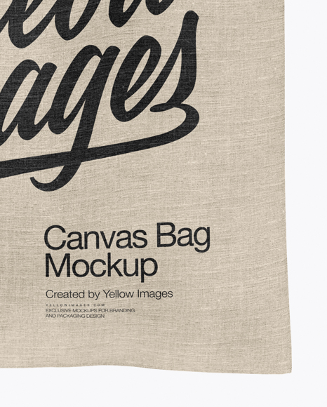 Canvas Bag Mockup Front View In Apparel Mockups On Yellow Images