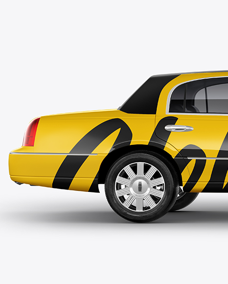 Lincoln Town Car Limousine Mockup - Side View