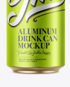 330ml Metallic Aluminium Can Mockup