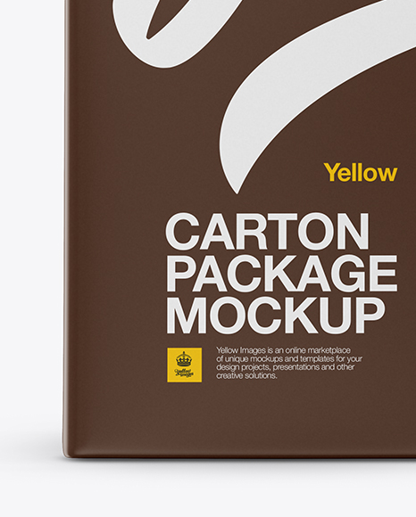 Carton Package Mockup - Front View