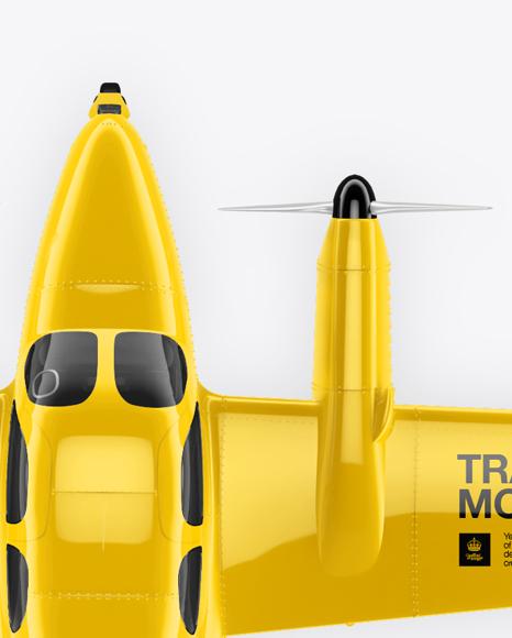 Sport Airplane Mockup - Top View