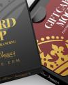 Gift Card in a Box Mockup - Halfside View (High-Angle Shot)