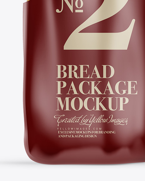 Bread Package With Clip Mockup