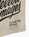 Canvas Bag Mockup - Half Side View (High-Angle Shot)