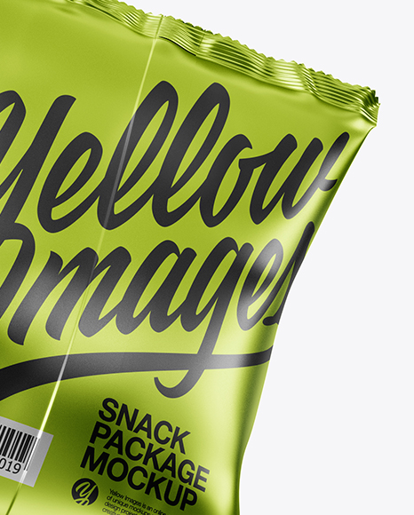 Two Metallic Snack Packages Mockup