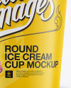 Carton Ice Cream Cup Mockup - Front View