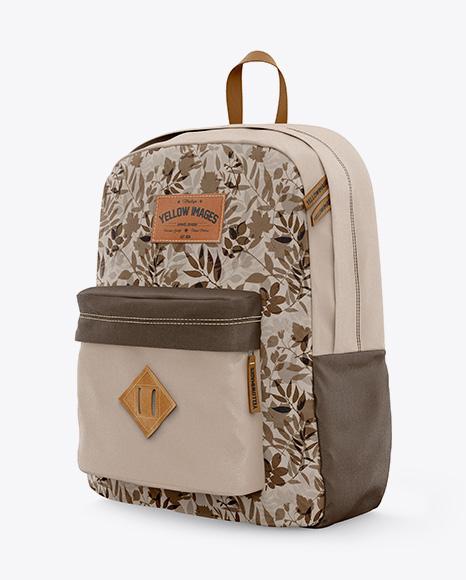 Backpack Mockup - Half-side View