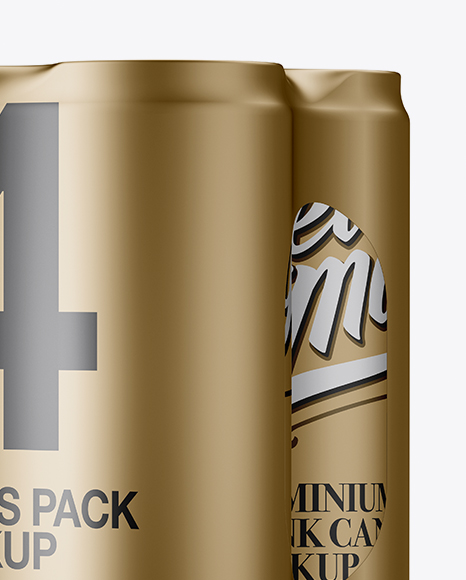 Download Four Matte Metallic Cans Mockup PSD - Free PSD Mockup Templates
