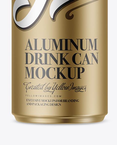 Download 250ml Glossy Aluminium Drink Can Mockup PSD - Free PSD Mockup Templates