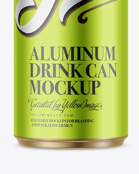 250ml Metallic Aluminium Can Mockup