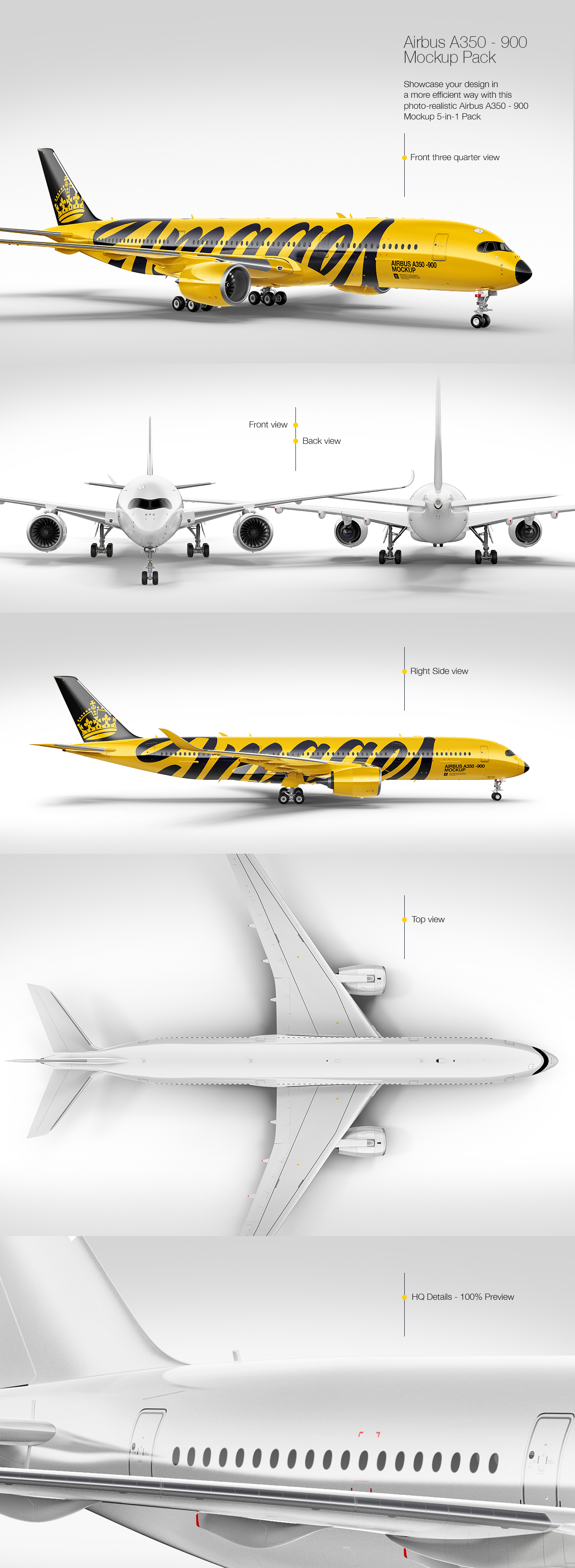 Airbus A 350-900 Mockup Pack