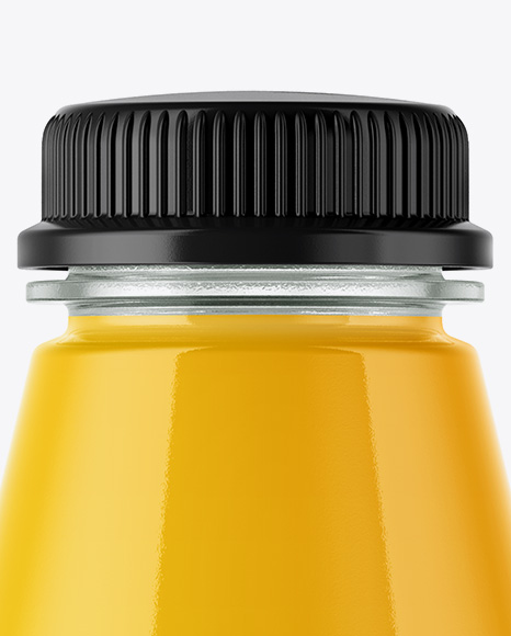 Plastic Bottle With Orange Juice Mockup
