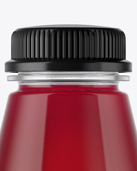 Plastic Bottle With Cherry Juice Mockup