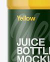 Plastic Bottle With Apple Juice Mockup