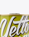 Olive Oil Glossy Tin Can w/ Cap Mockup - Front View
