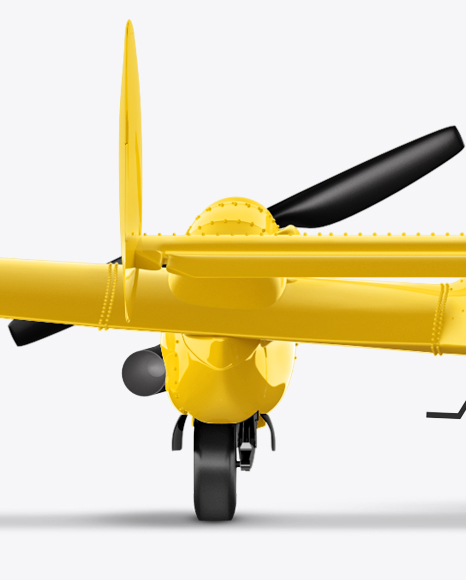 Sport Airplane Mockup - Back View