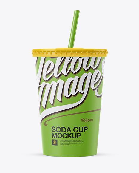 Matte Paper Soda Cup Mockup