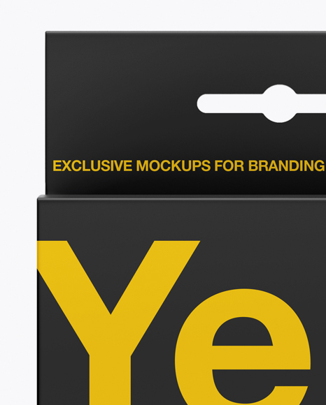 Matte Paper Box with Hang Tab Mockup - Front View