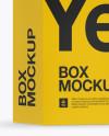 Glossy Paper Box with Hang Tab Mockup - Half Side View