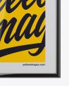 Poster W/ Glossy Frame Mockup