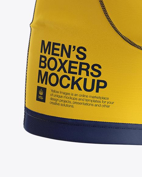 Download Melange Mens Boxer Briefs Mockup Yellowimages