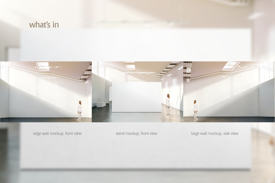 Gallery Wall Mockup In Indoor Advertising Mockups On Yellow Images