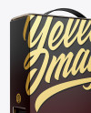 Carton Box with Wine Dispenser - Half Side View