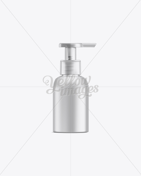 Small Cosmetic Bottle w/ Lotion Pump Mockup