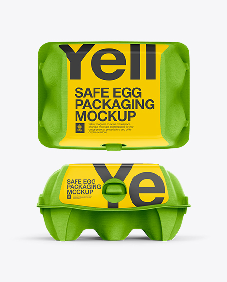 Egg Box Mockup In Packaging Mockups On Yellow Images Object Mockups